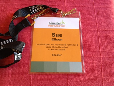 Educate Plus Speaker Badge Sue Ellson