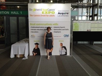 Reinvent Your Career Expo Brisbane 2015 Sue Ellson at Entrance