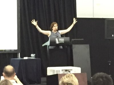 Reinvent Your Career Expo Brisbane 2015 Sue Ellson Demonstrating