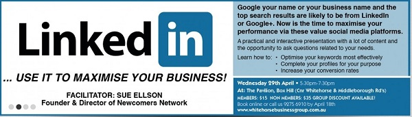 Whitehorse Business Group LinkedIn Seminar